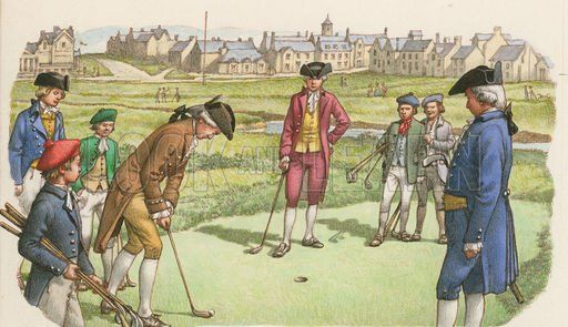 On the 14th May 1754 golf was formalised at St Andrews ...