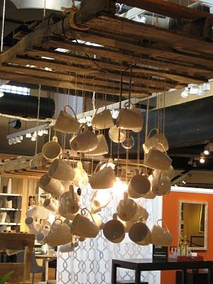 Love Idea Of Suspended Pallet To Drop Ceiling And To Hang