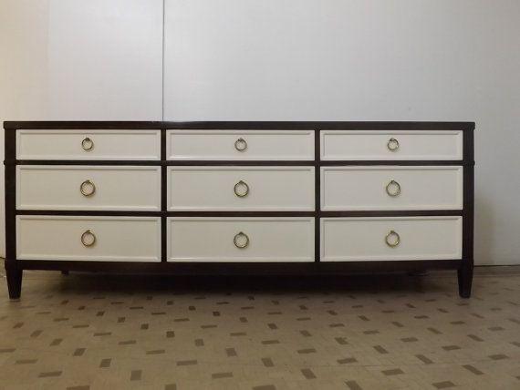 Refinished Mid Century Modern Dresser by Baker Furniure Los