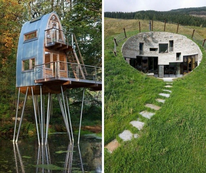 23 Of The Most Unique Homes In The World Home Magez Cottage In The Woods Futuristic Home Unique Houses