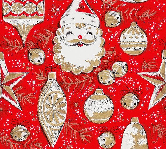 Todos os tamanhos | Vintage Gift Wrap Tree Trimmings | Flickr – Compartilhamento de fotos!