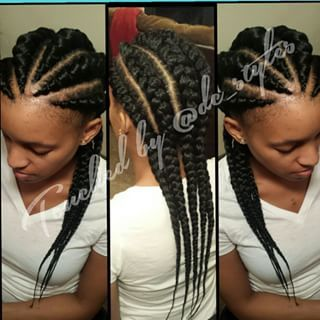 Jumbo Ghana Cornrows Style 620x620 Hair Ghana Braids Hairstyles Ghana Braids Loose Hairstyles