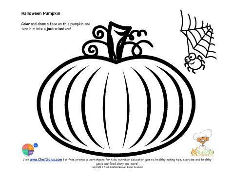 Kids\' Jack-O-Lantern Drawing and Coloring Page | Halloween | Pinterest