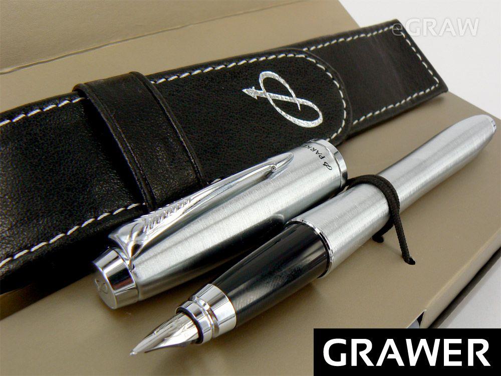 Parker Urban Metallic Pioro Wieczne Grawer Skora 2508029914 Oficjalne Archiwum Allegro Pen Items