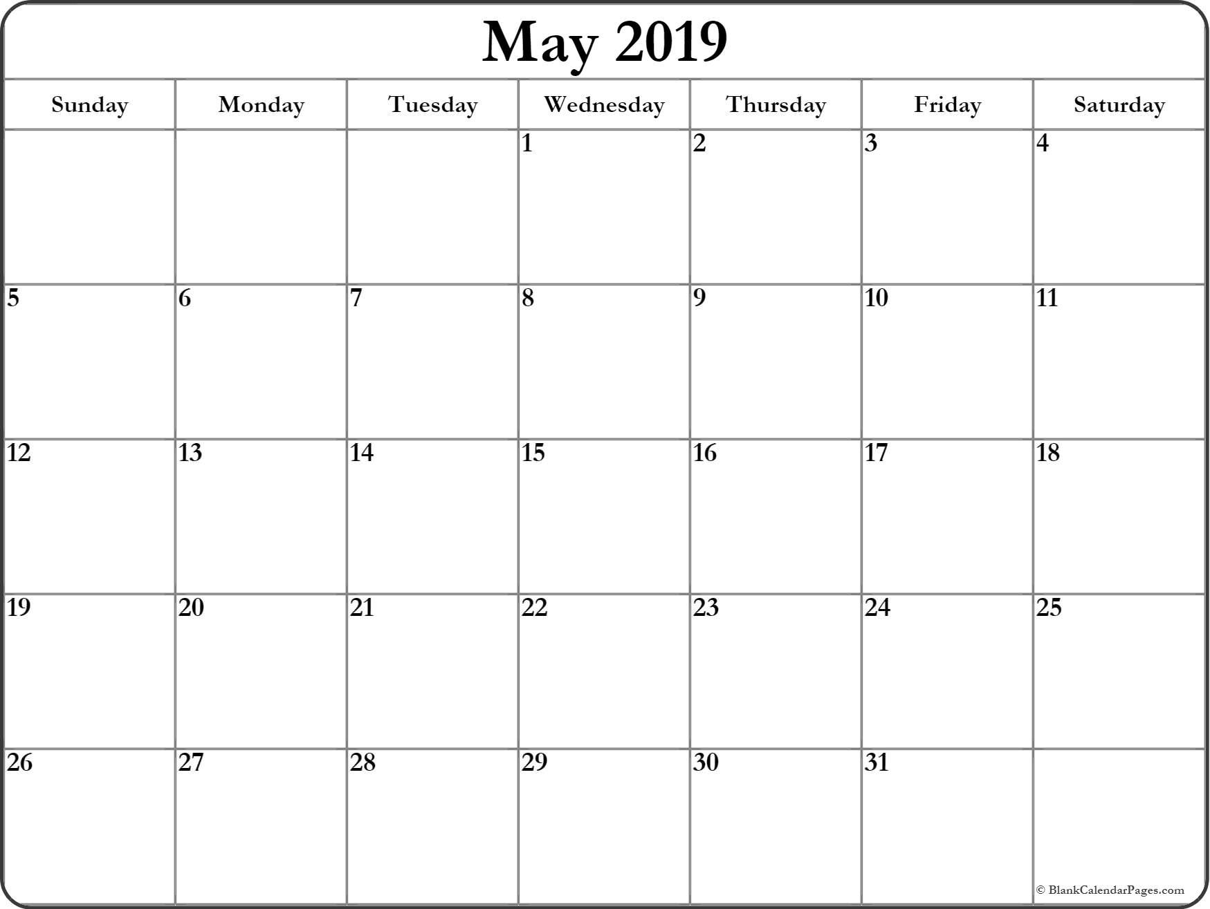 photograph about Printable Calendar for May named Printable Calendar May perhaps 2019 200+ May well 2019 Calendar