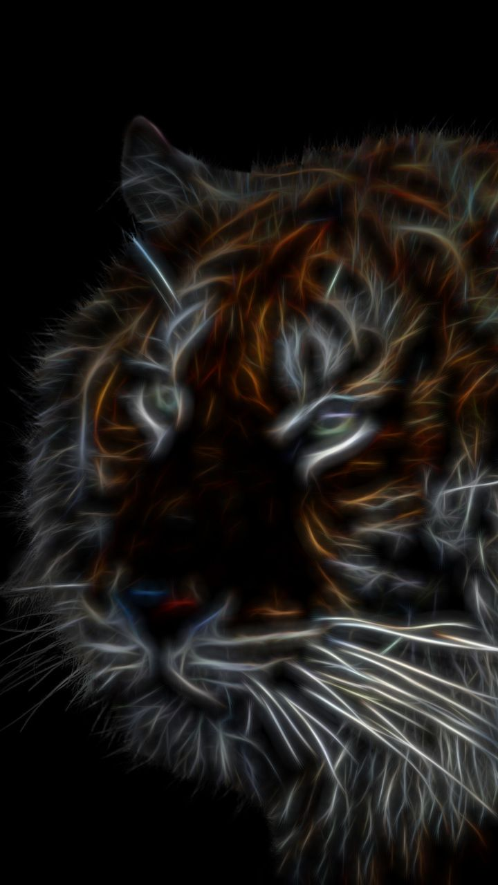 Tiger dark muzzle art 720x1280 wallpaper abstract digital art tiger dark muzzle art 720x1280 wallpaper altavistaventures