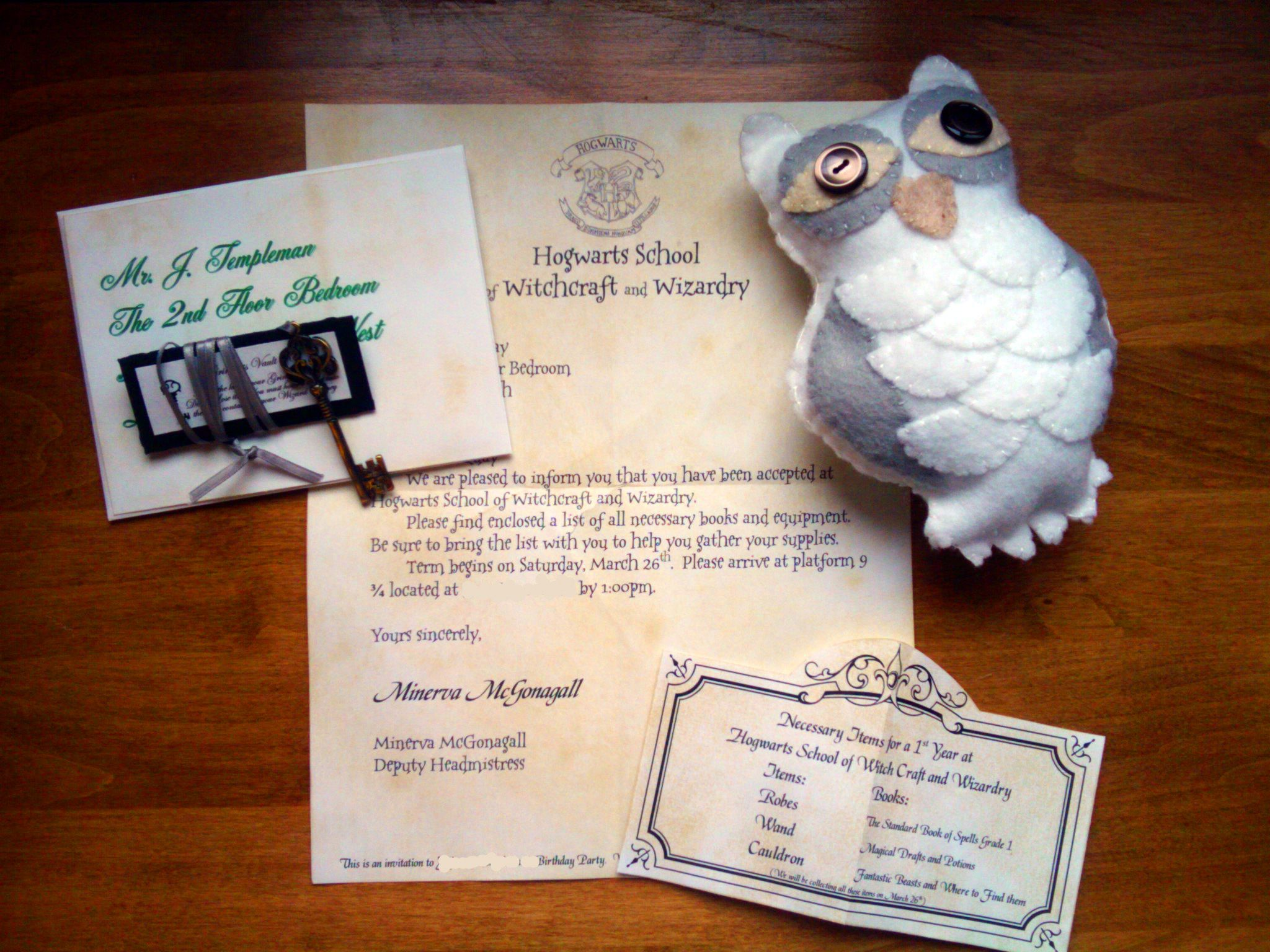super cute HP party ideas from itsthelife.typepad.com