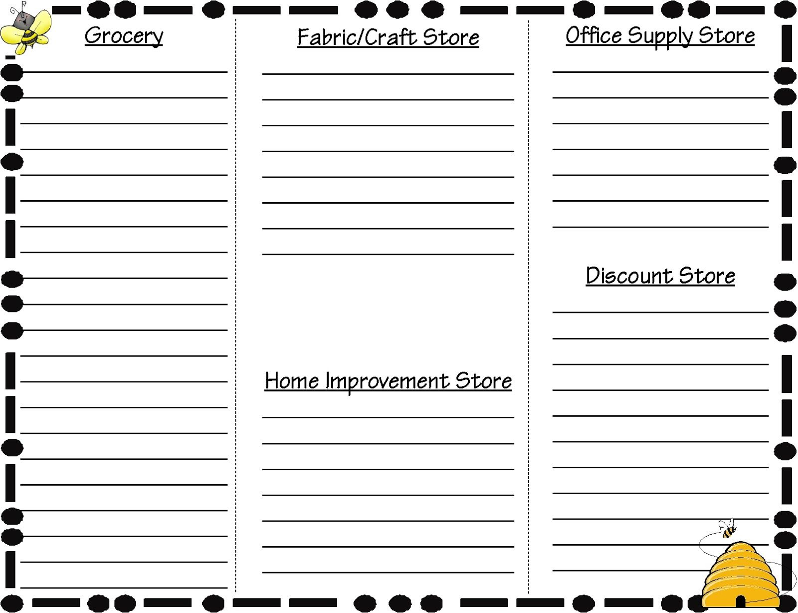 How To Organize Your Shopping List Keep This List To Use