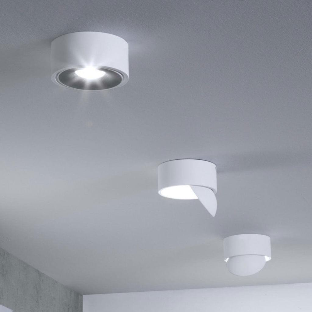 LED Ringe Decken Leuchte schwarz Küchen Beleuchtung Flur Strahler Design Lampe