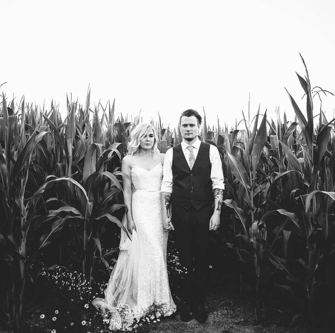 Karen Willis Holmes sequin wedding dress.     @mckinleyrodgers • Gown - 'Anya' by @kwhbridal from @angelicabridal Islington • Styling - @bijoubride • Suit - @greshamblake • Flowers -@floristatthestation .   Follow us - @kwhbridal