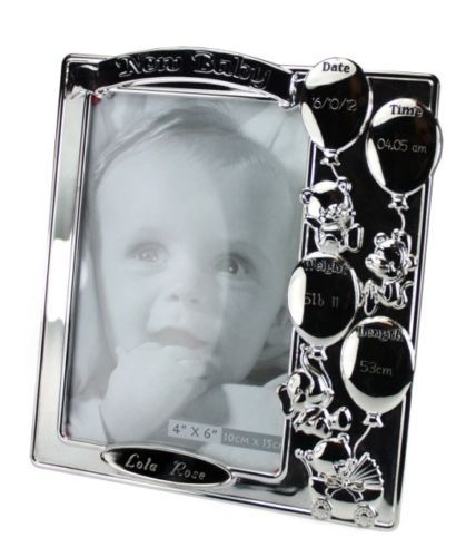 Silver Plated Baby Photo Frame 4\'\'x6\'\' Christening Gift ...