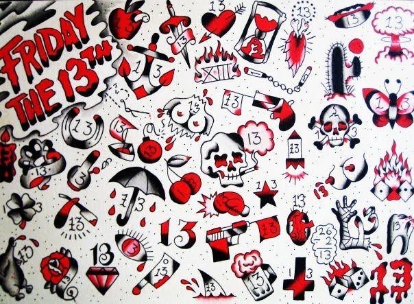 13 Jpg 604 443 Friday The 13th Tattoo 13 Tattoos Tattoo