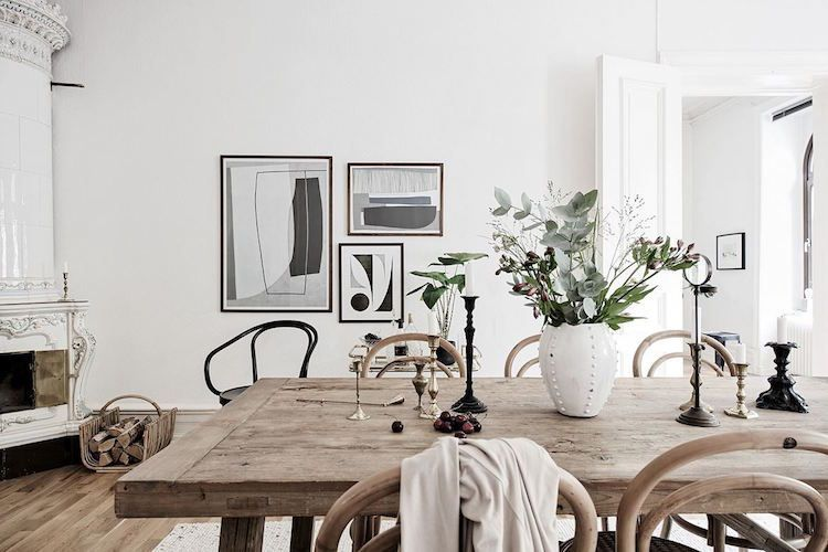 A beautiful Stockholm space in white and brown