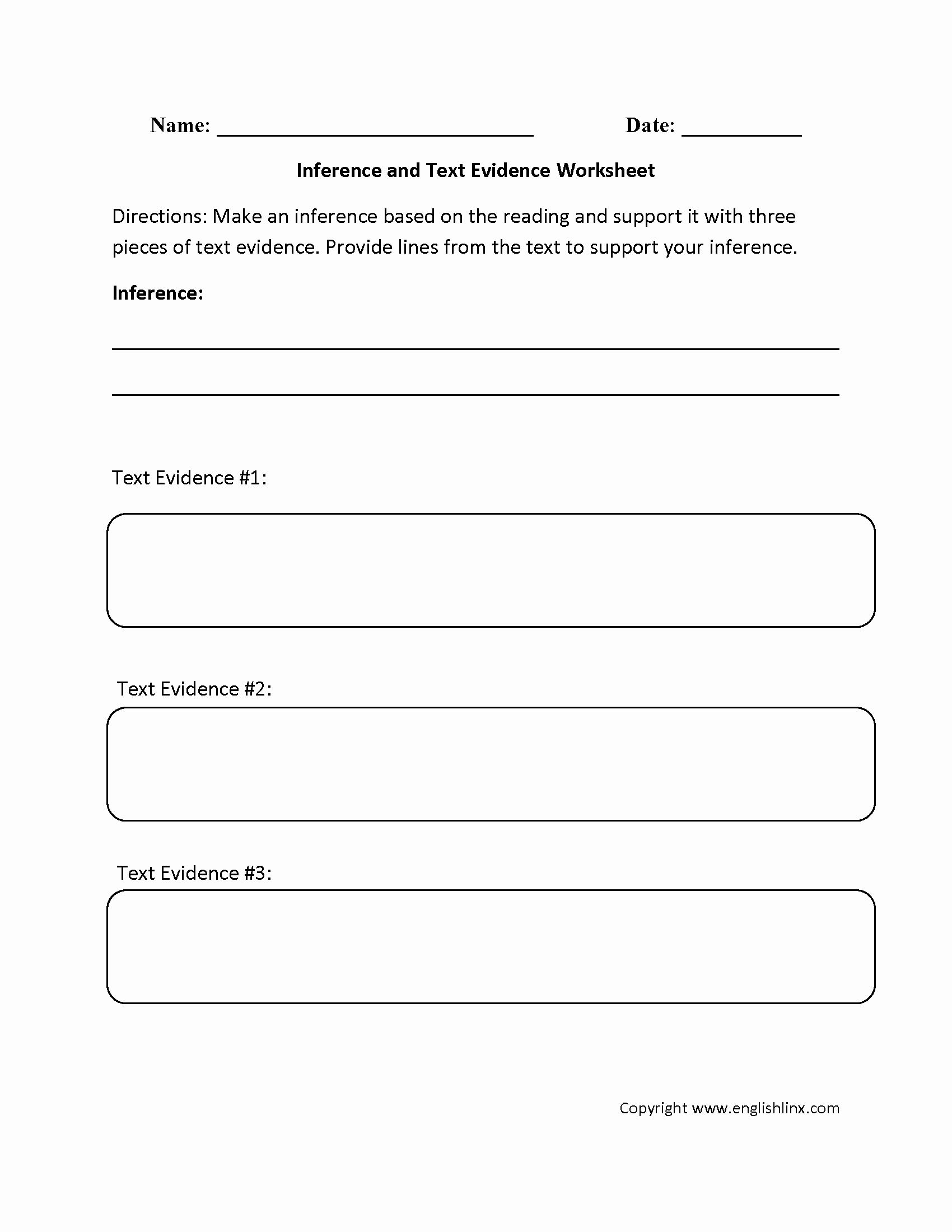Citing Textual Evidence Worksheet Elegant Citing Textual