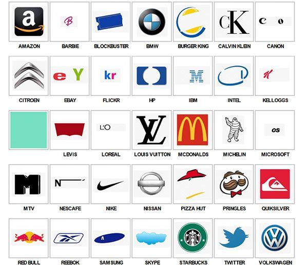 Logos Quiz answers Level 1 | Logos | Pinterest | Logos, Quizes and ...