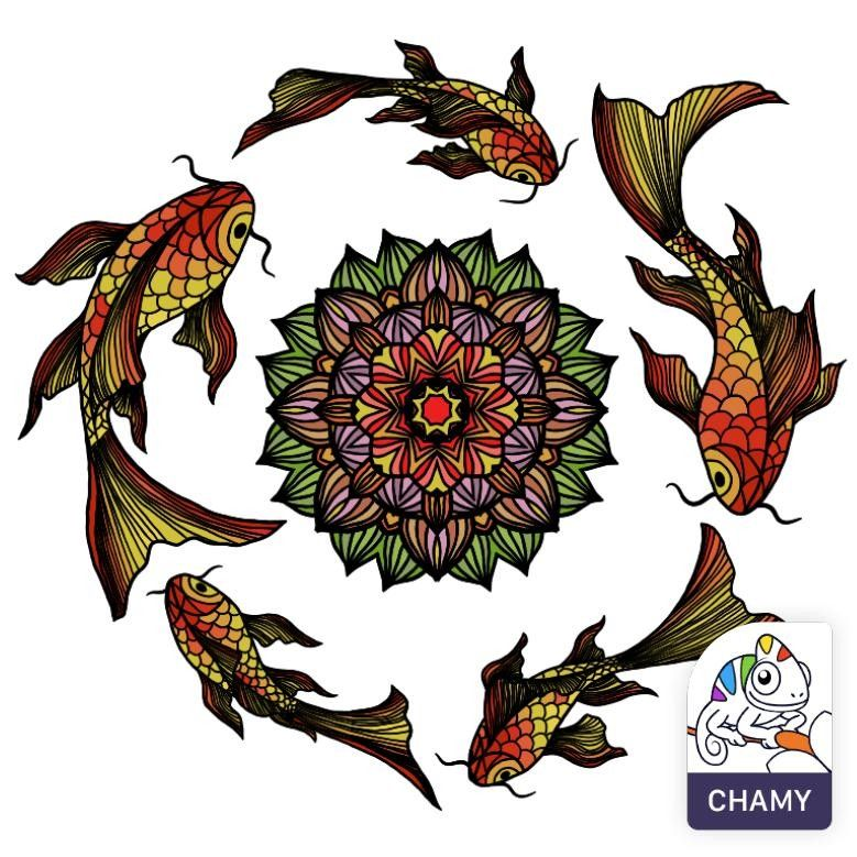 #chamyapp | Dreamcatcher tattoo, Coloring pictures ...