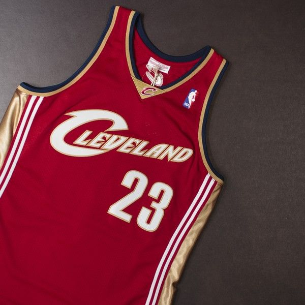 M & N Authentic Lebron James Jersey (Wine/Gold) $300
