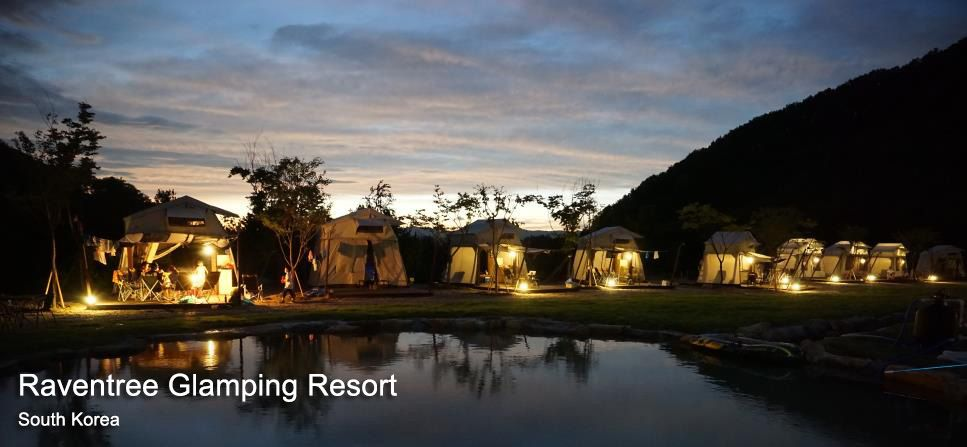 Raventree Glamping Resort Glamping in South Korea with the