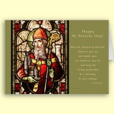 Irish Blessings - Saint Patrick Blank Card by XG Designs NYC. $3.80