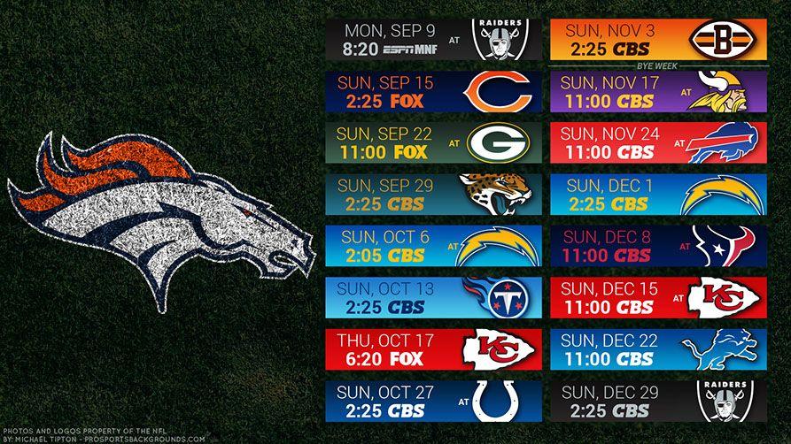 2019 Desktop PC Field NFL Schedule Wallpaper Denver