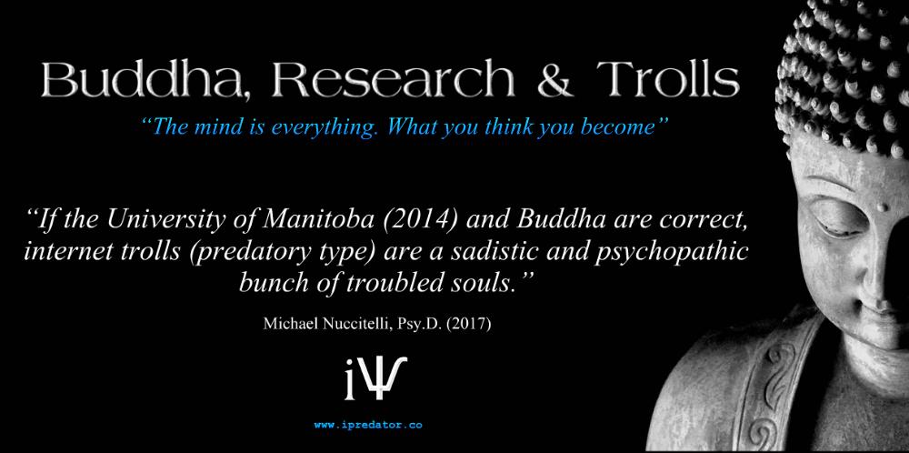 Free #PSA Educational #InternetTrolls #Buddha Image - Graphic by #iPredator New York - SSL #InternetSafety Website: https://goo.gl/YhcFKL