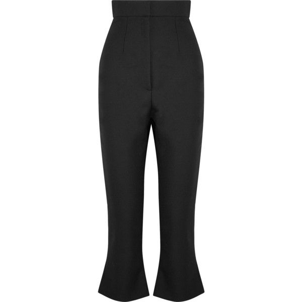 Le Corsaire Trompette Cropped Wool And Cotton-blend Flared Pants - Black Jacquemus O27z3GT