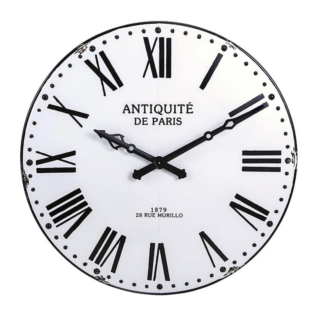Imax 18346 Lexington Wall Clock Farmhouse Wall Clocks Wall Clock White Clocks