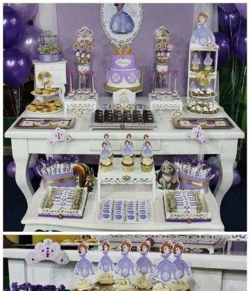 mesas decoradas de princesa sofia arreglos