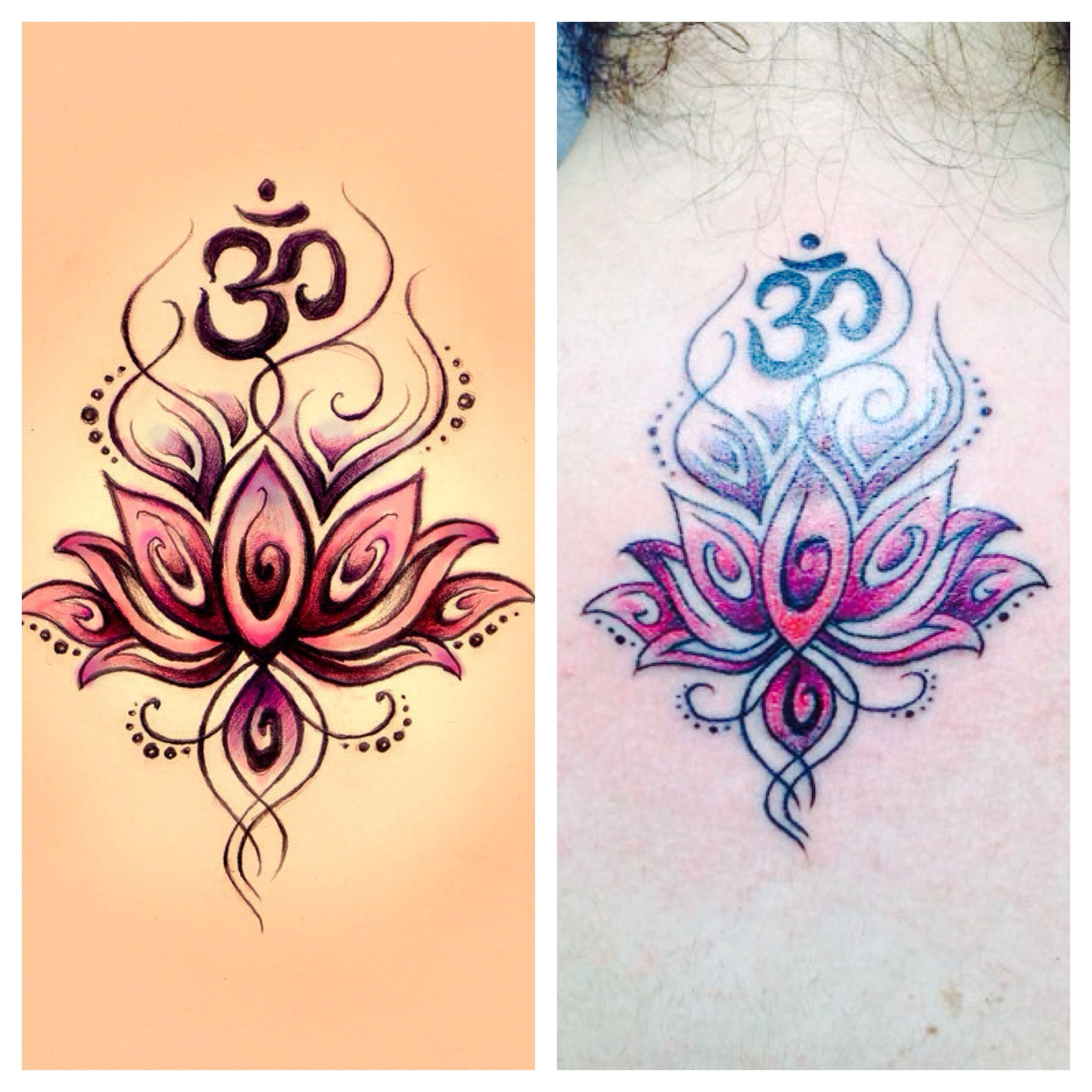 Lotus Flower Henna Tattoo Designs: My Om/lotus Flower Tattoo #tattoo #omtattoo