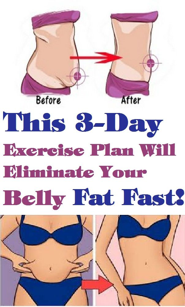 This 3 Day Exercise Plan Will Eliminate Your Belly Fat Fast