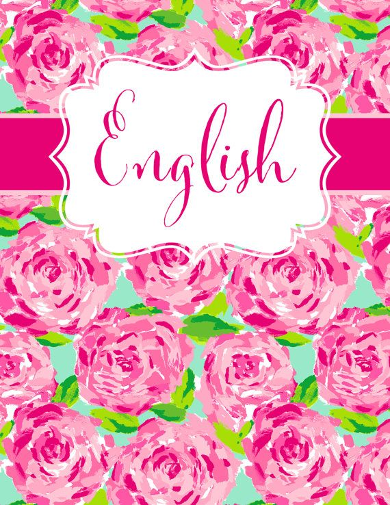 Book Cover Ideas For English ~ Lilly pulitzer inspired preppy binder cover by