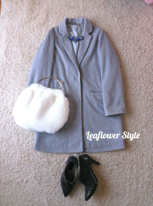 フェイクファーのコーディネート   Leaflower LIVING ハンドメイド・ワイヤークラフト教室 毎日着る上品なワンピースやスカートを作ってます