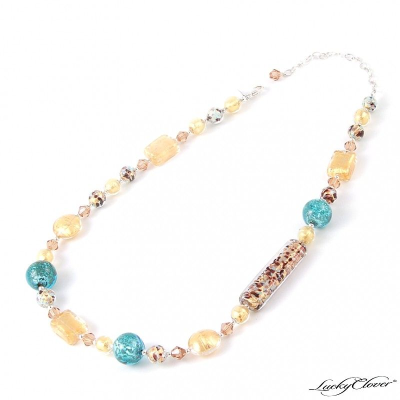 Riviera Necklace - $208.00 - Authentic glass from Murano, Italy - Check out other LuckyClover Jewelry!