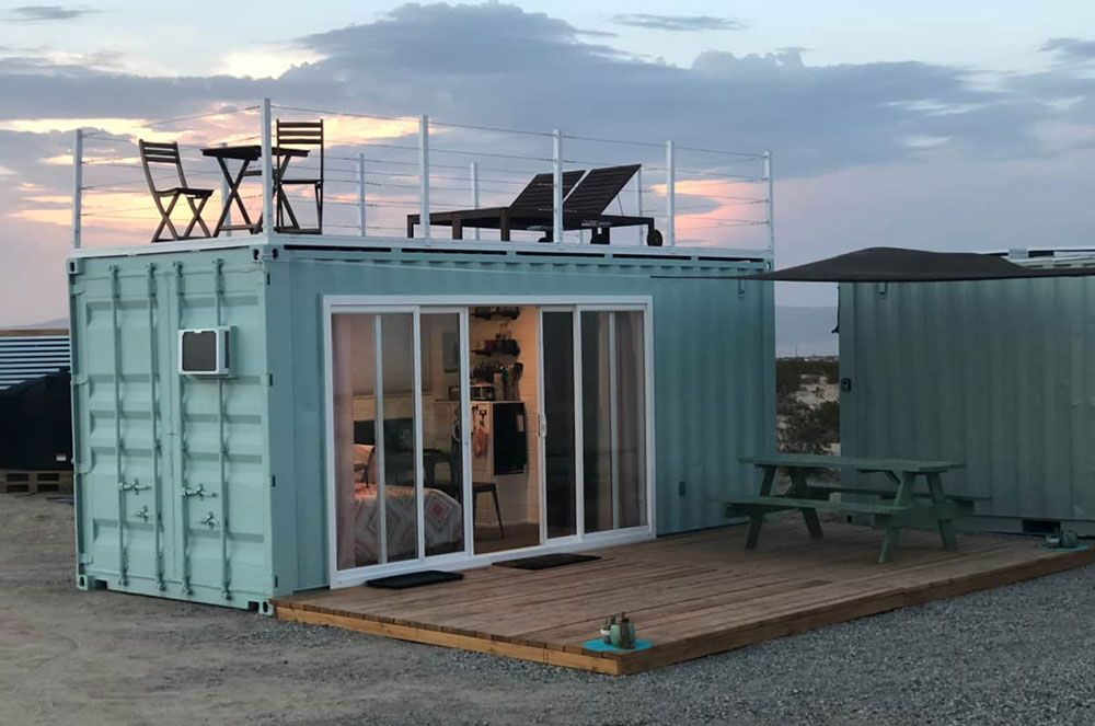 Off Grid Shipping Container Home In California Container House