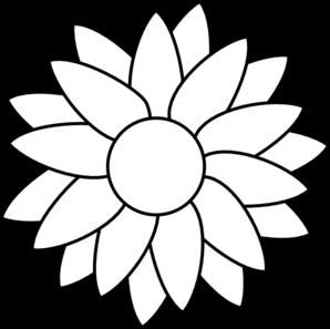 Sun Flower Template Clip Art  Doodling    Clip Art