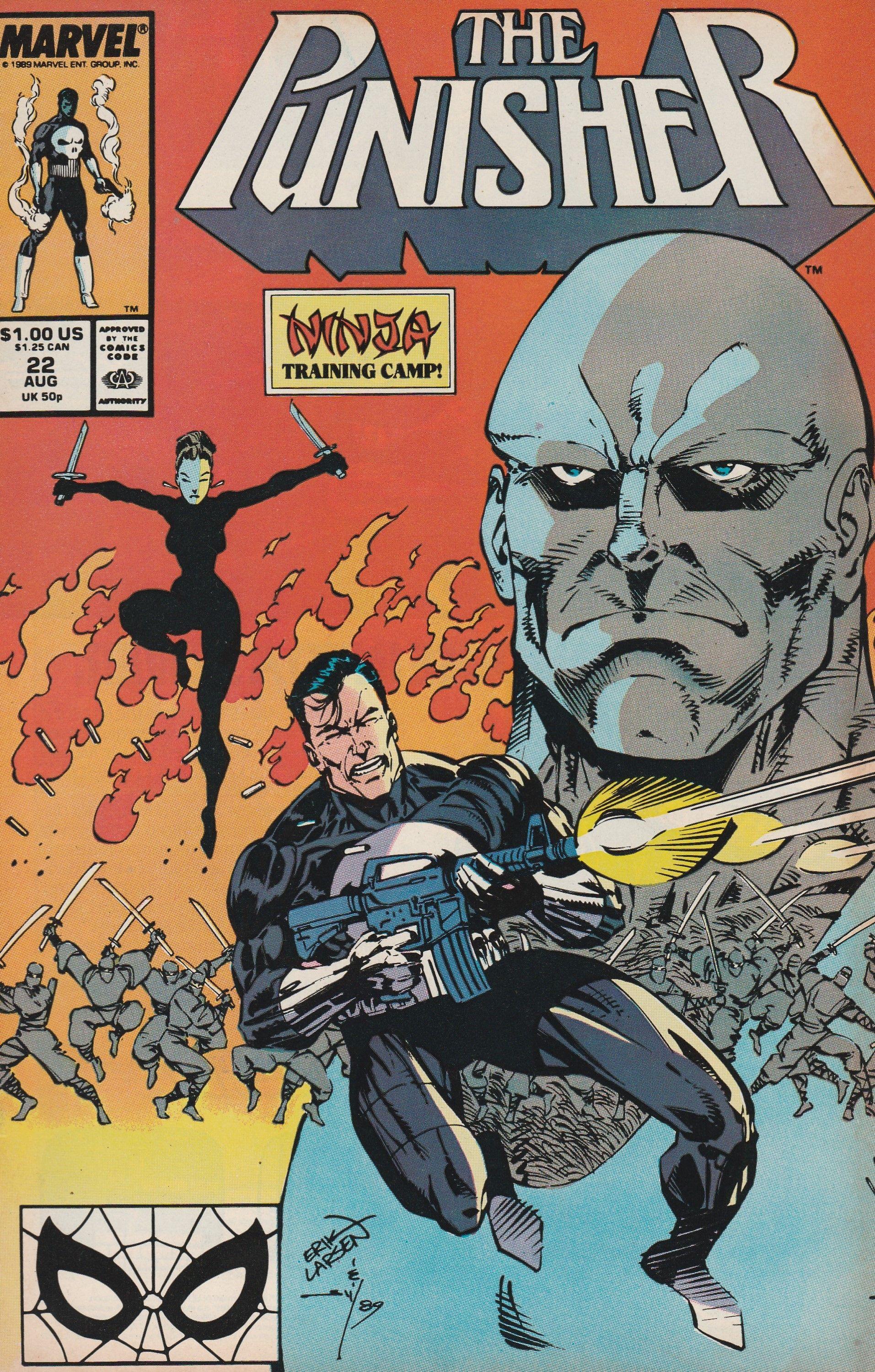 Vol.2 The Punisher No.24 1989 Shadowmasters Mike Baron /& Erik Larsen