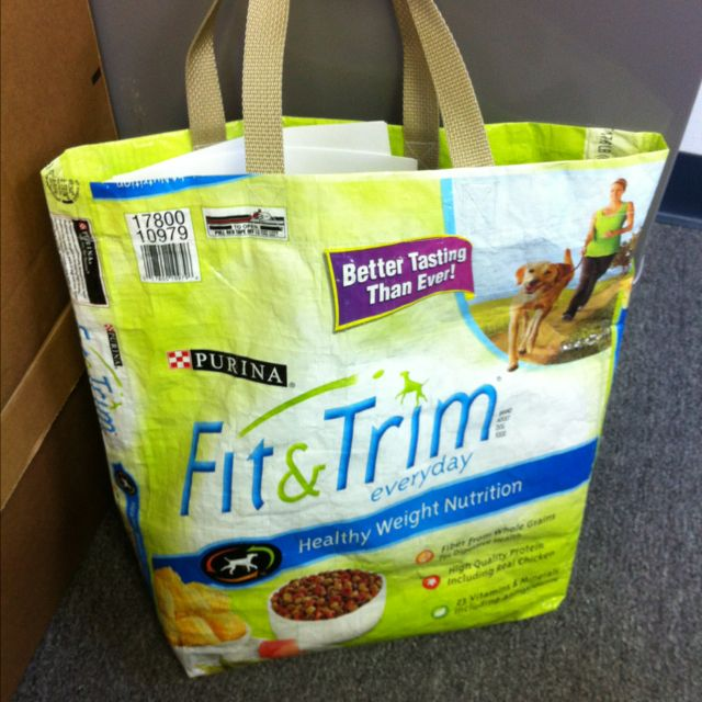 Dog Food Bag Recycled As A Tote I Think I Might Recover In