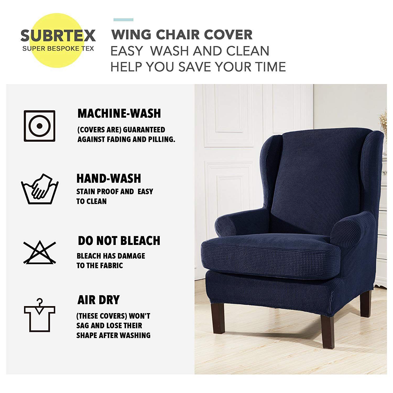 Subrtex 2 Piece Spandex Waffle Fabric Stretch Wingback