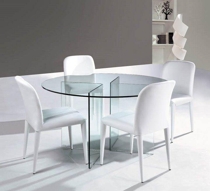 Dining Room Table Decor, Glass Round Dining Table