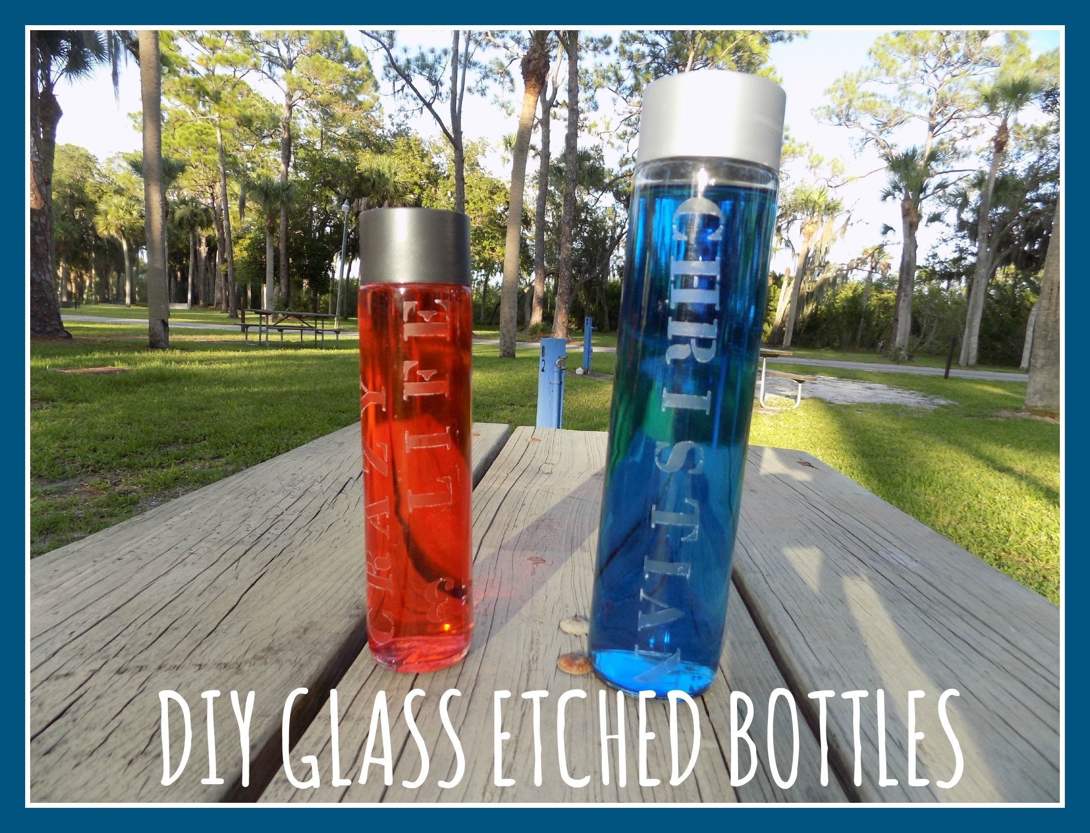 Do it yourself glass etched voss bottles quickcrafter