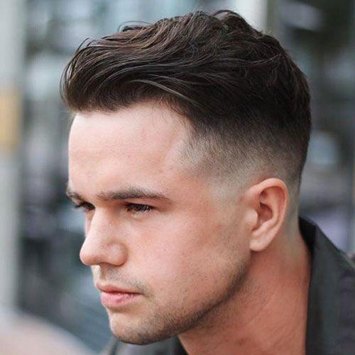 Wavy Slicked Back Hair Bald Fade Menshairstyles Mens Slicked Back Hairstyles Round Face Men Wavy Hair Men