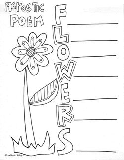 several cute acrostic poem templates {www.cityoflafayette