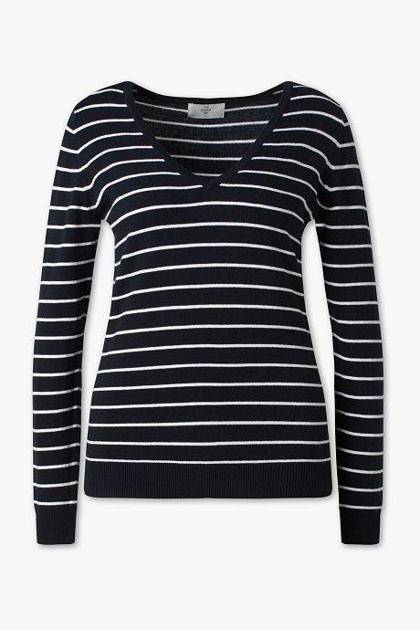 Basic Trui.Yessica Basic Trui Gestreept Shopping Sweaters Pullover Fashion