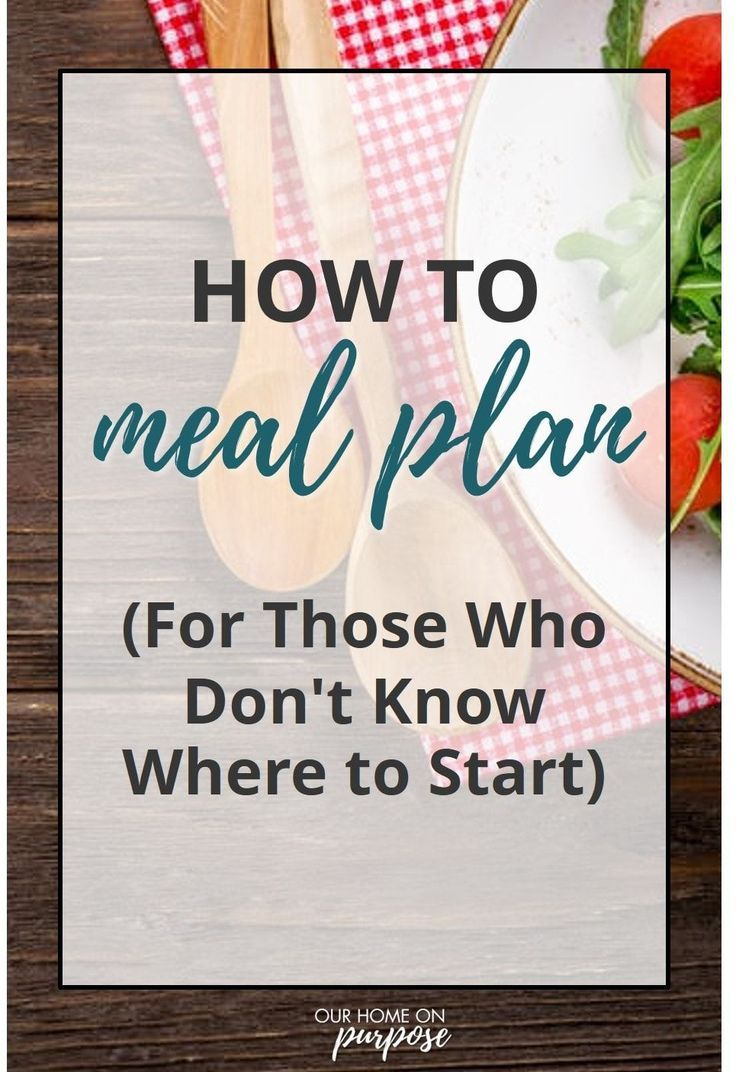 """Make Your Own Meal Plan   Our Home on Purpose is part of Beginner meal planning - Less stress, less waste, less spending  I sound like an infomercial but I really have felt each of these benefits from learning to plan my meals ahead of time! The thought of asking """"what's for dinner """" every afternoon, trying to come up with a plan, maybe swinging by the grocery store because I can't remember …Read more"""