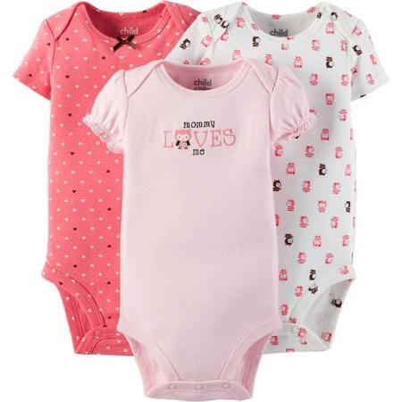 ae50e50640 Child Of Mine Made By Carter s Newborn Baby Girl Bodysuit