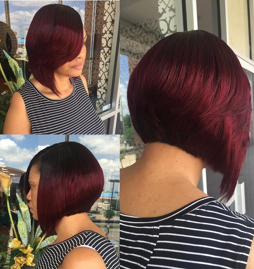 60 Showiest Bob Haircuts For Black Women Hair Pinterest Red