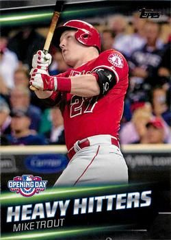 2016 Topps Opening Day Heavy Hitters Hh 10 Mike Trout
