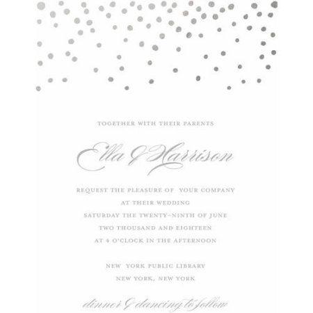Gold Dots Standard Wedding Invitation Walmart Com Wedding Invitations Marriage Invitation Card Invitations