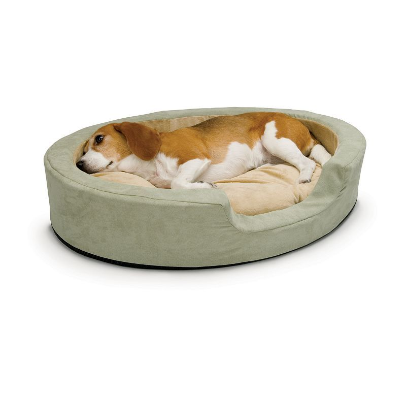 K H Pet Thermo Snuggly Sleeper Oval Pet Bed 24 X 21 Heated Dog Bed Heated Pet Beds Pet Beds