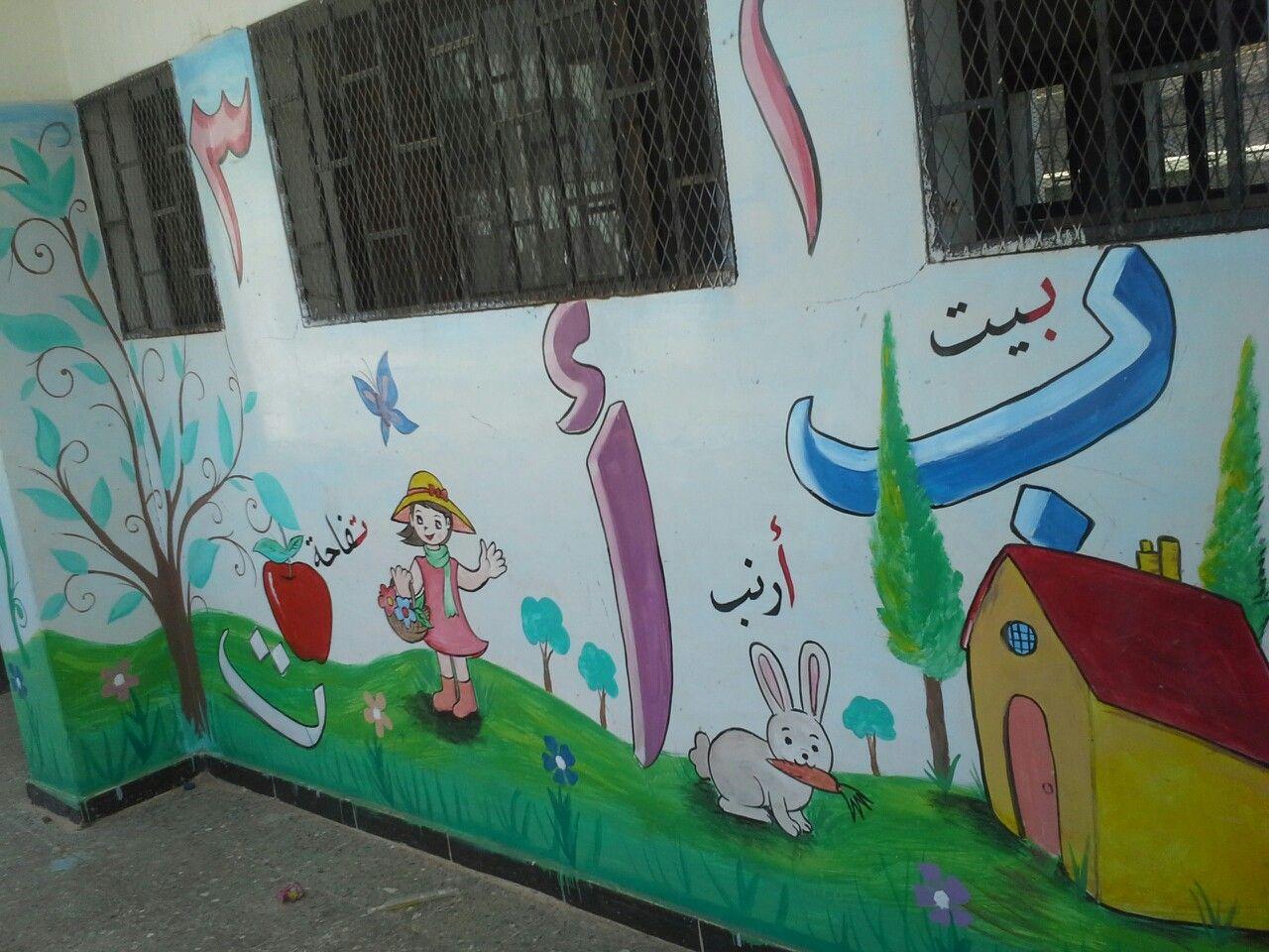 الحروف والارقام رسوم على الجدران Kindergarten